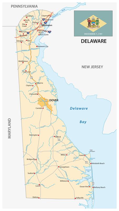 Seaford DE City Map Dumpster Rentals